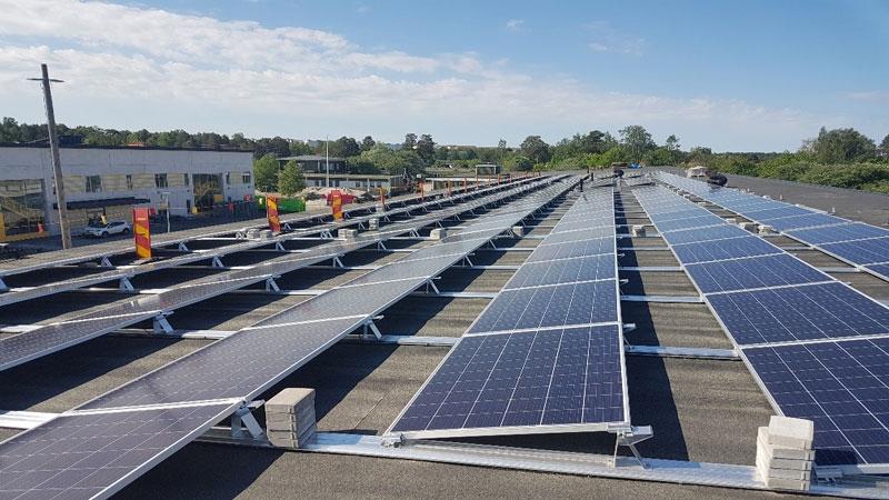 Vendelsömalmsskolan, solceller