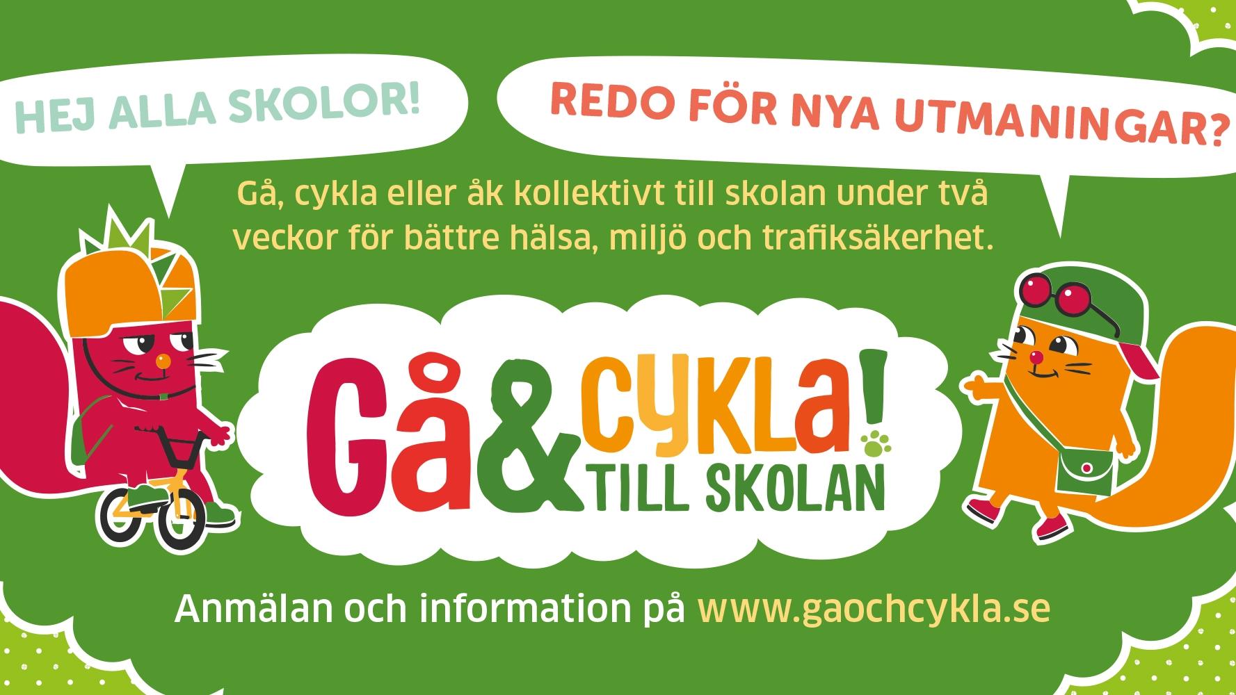 Illustration Trafikkalenderns gå- och cyklatävling