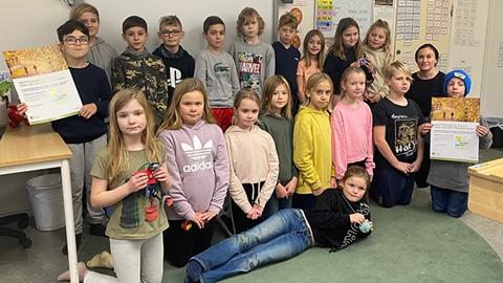 Vinnaren i Trafikkalenderns Gå- och cyklatävling 2020 är klass 3A på Vendelsömalmsskolan