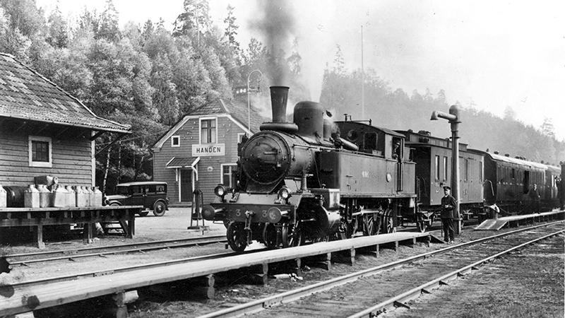 Handens järnvägsstation.